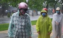 Đà Nẵng: Nỗ lực phát gạo cho người nghèo trong mưa