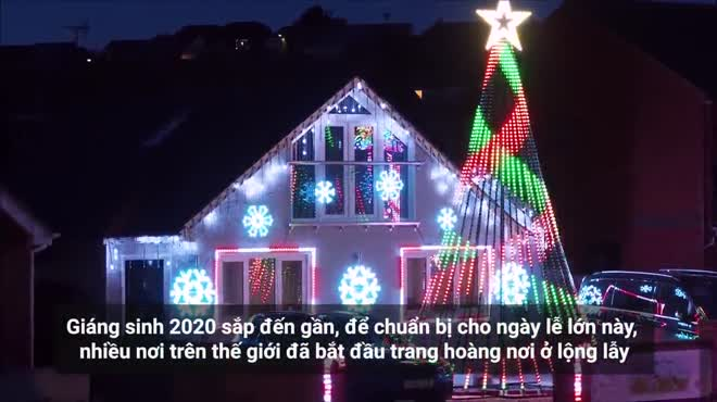 Ngỡ ngàng với những tác phẩm bằng đèn led đón Giáng sinh trên thế giới