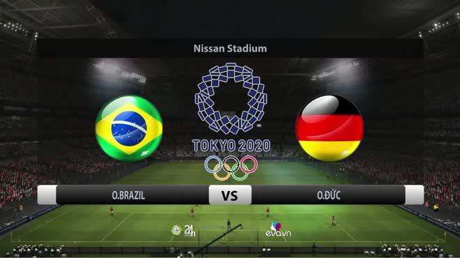 Video bóng đá Olympic Brazil - Đức: Hat trick, thẻ đỏ & rượt đuổi 6 bàn mãn nhãn