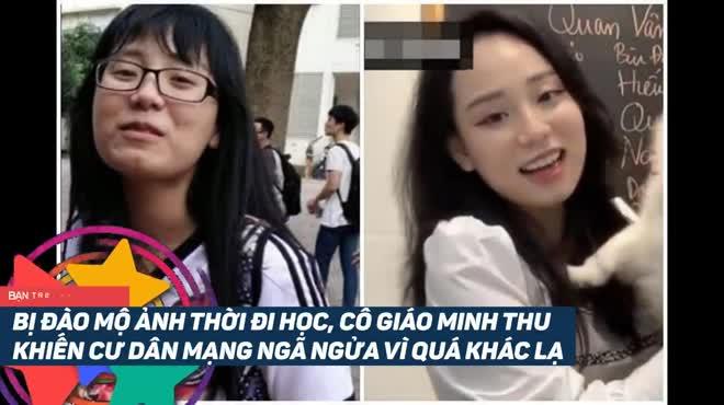 Nhan sắc thời đi học của cô giáo Minh Thu khiến dân mạng