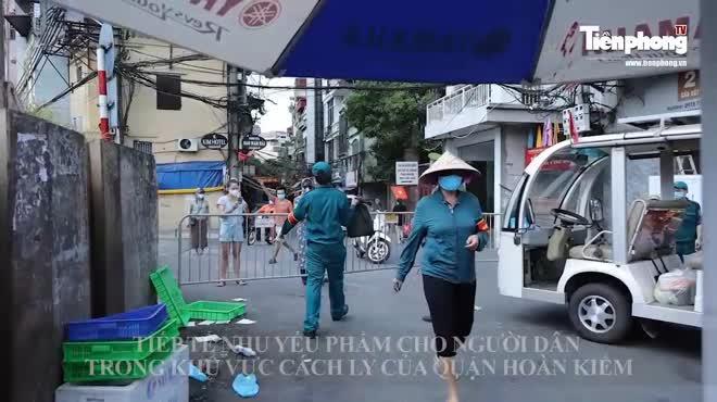 Hà Nội: Không để người dân khu vực phong tỏa thiếu lương thực, thực phẩm